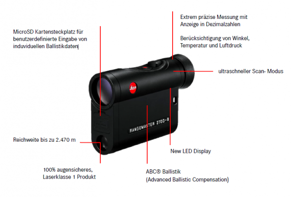 Leica Entfernungsmesser Rangemaster Crf 2700 B : Leica rangemaster crf b büchi optik ag bern